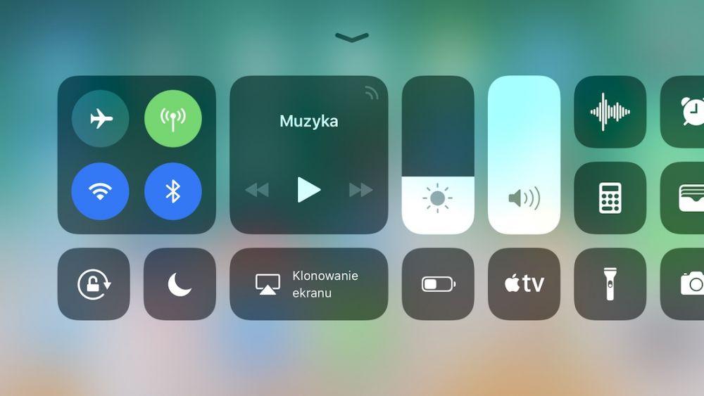 iOS 11 bluetooth wi-fi jak wyłączyć - centrum sterowania