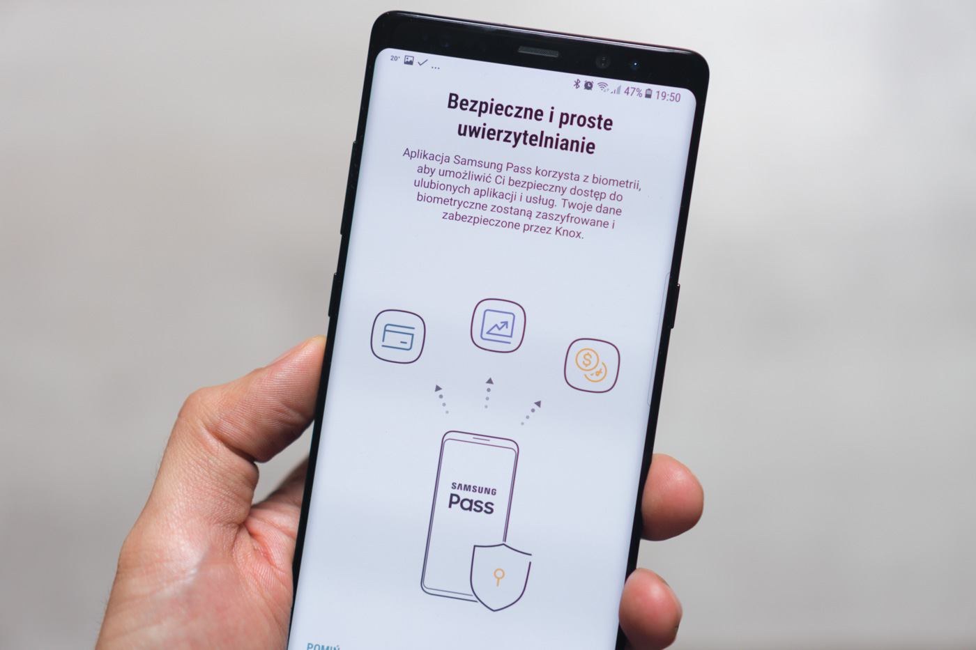 Samsung Galaxy Note 8 biometria