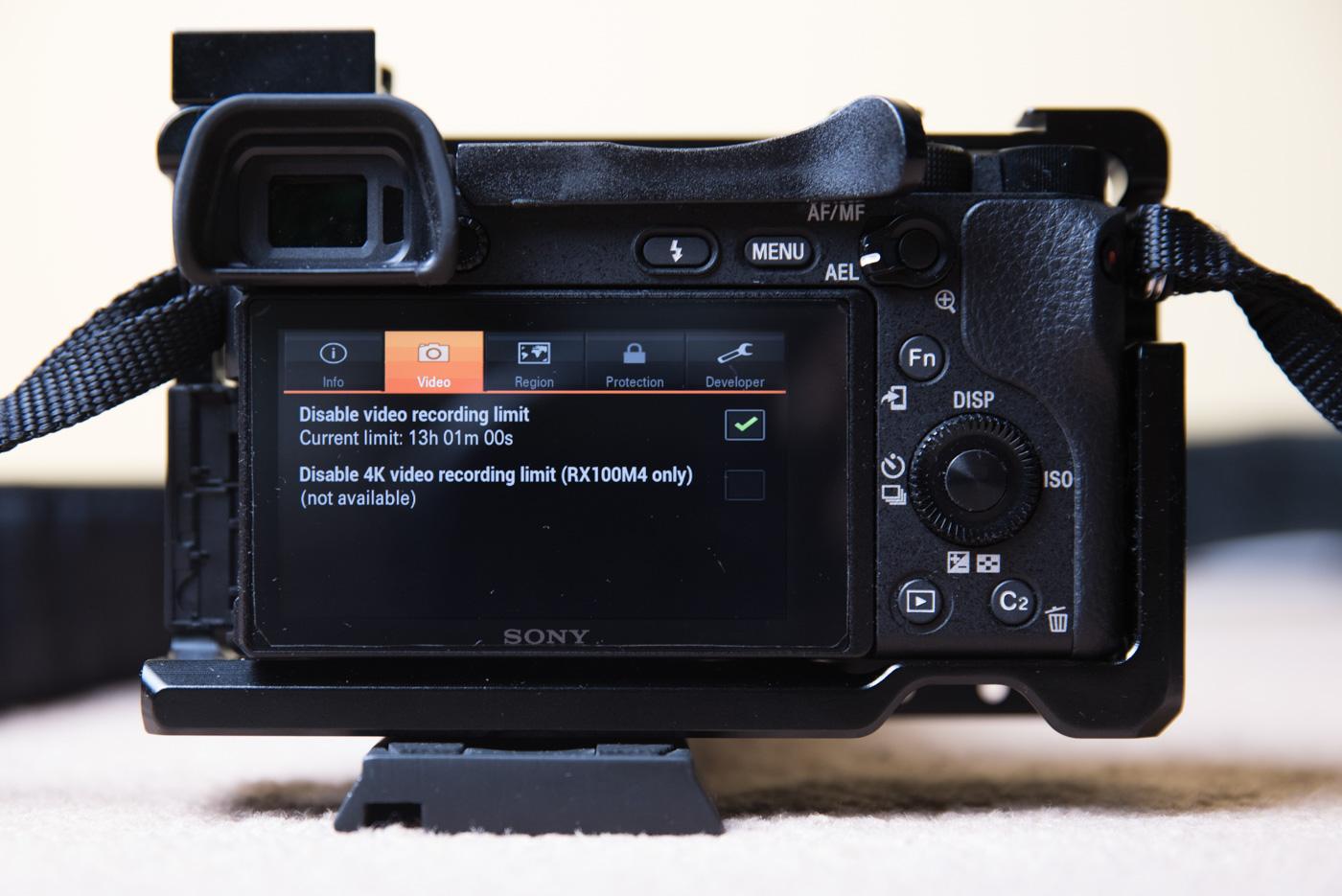 czas nagrywania w aparatach sony - 30 minut.