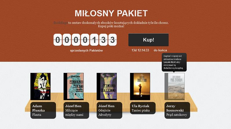 Miłosny pakiet w nowym BookRage – Sosnowski, Hen, Pluszka, Ryciak