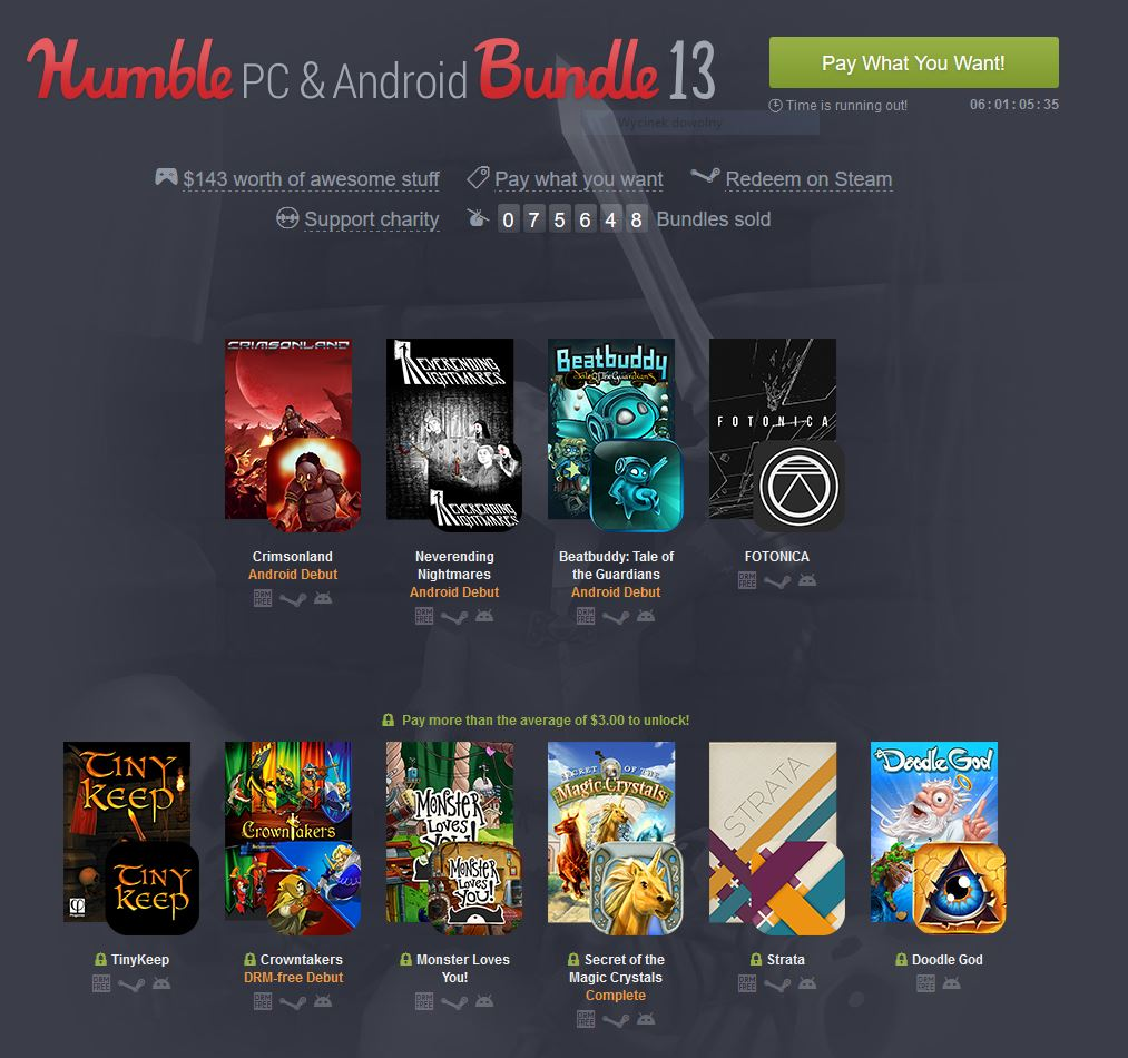 Więcej gier na Androida i PC w nowej paczce Humble Bundle
