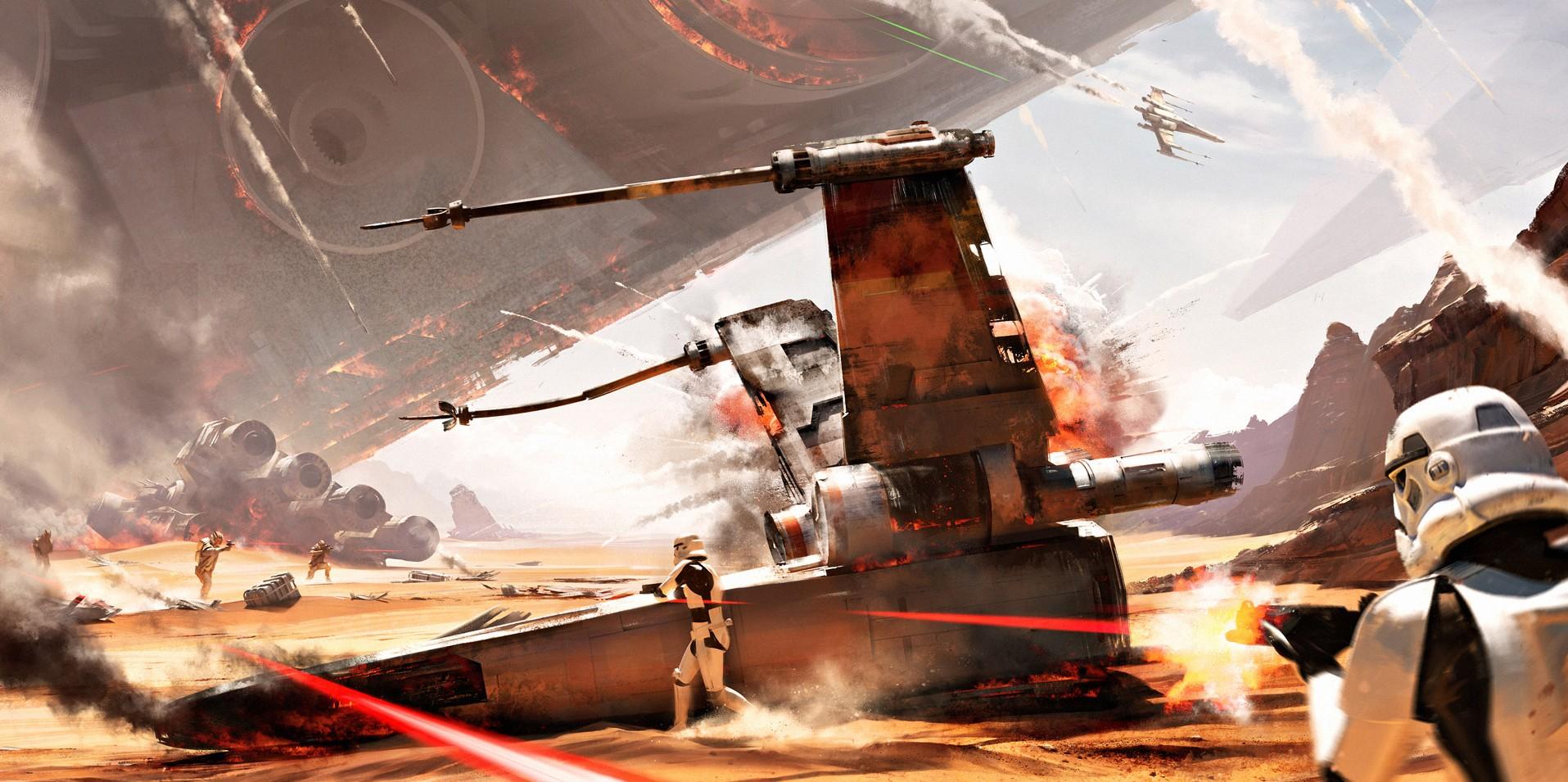"""Świetna reklama """"Star Wars: The Force Awakens"""" – interaktywna przejażdżka po planecie w 360 stopniach"""