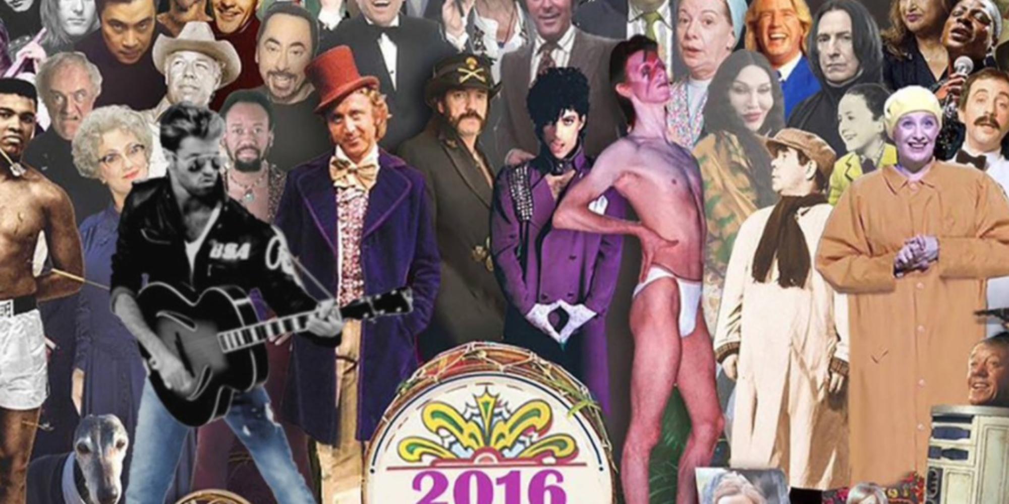 Wszystkie gwiazdy, które zmarły w 2016 roku na jednym zdjęciu