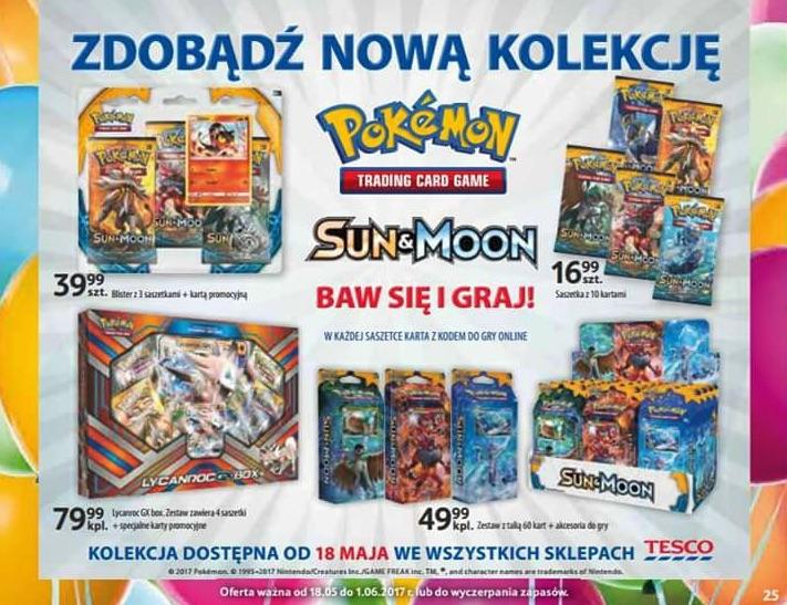 karty pokemon w polsce - sprzedaje je tesco