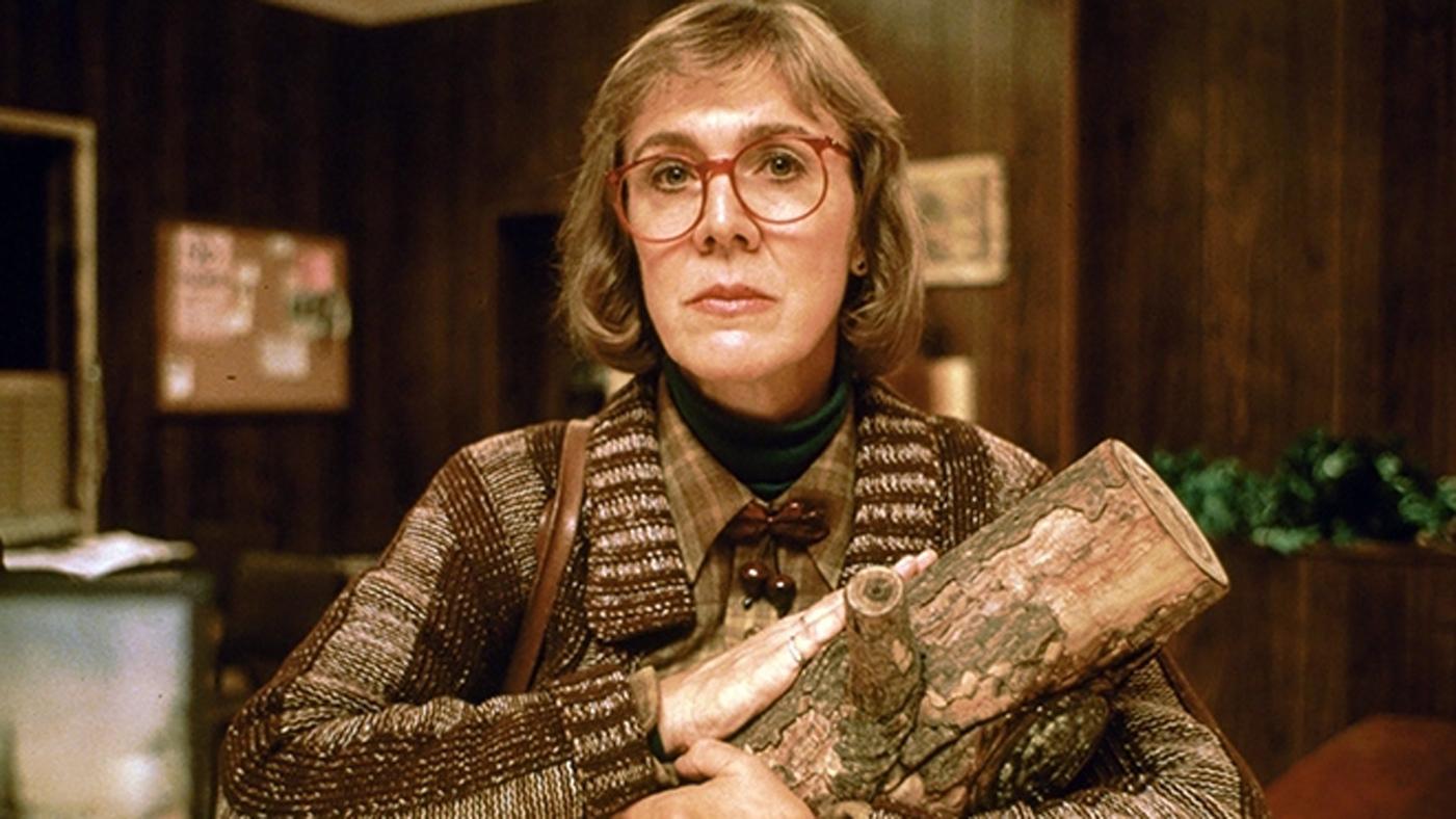 Kobieta z pieńkiem - kadr z serialu Twin Peaks