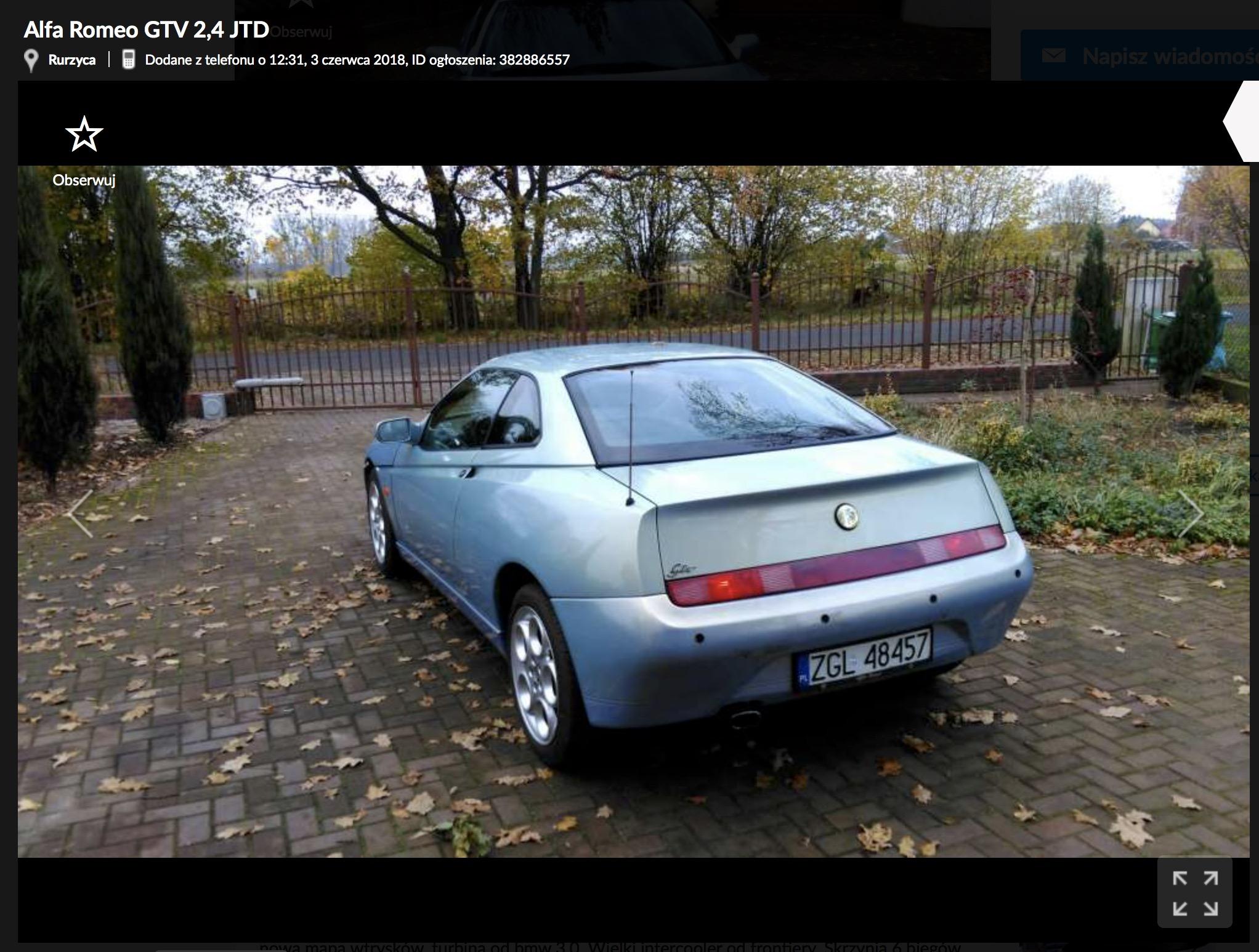 """Prawdziwy """"jedyny taki"""" czyli Alfa Romeo GTV z slem"""