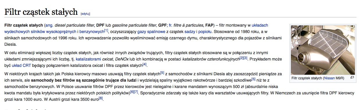 filtr cząstek stałych wikipedia