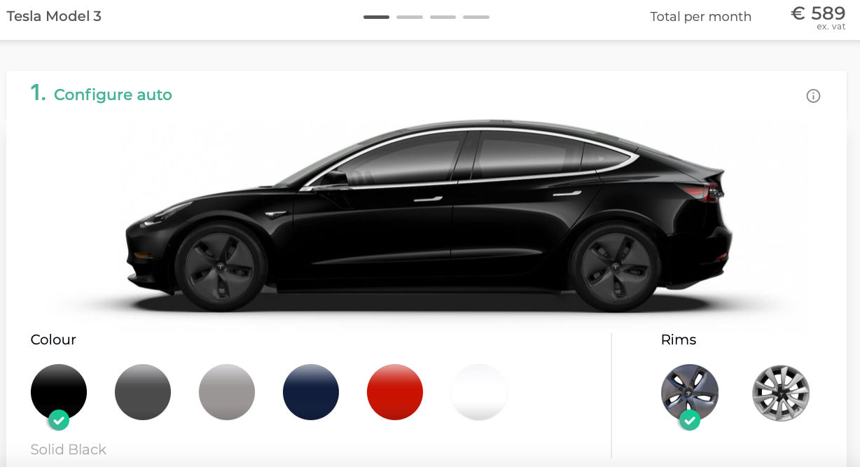 Tesla Model 3 EU konfigurator