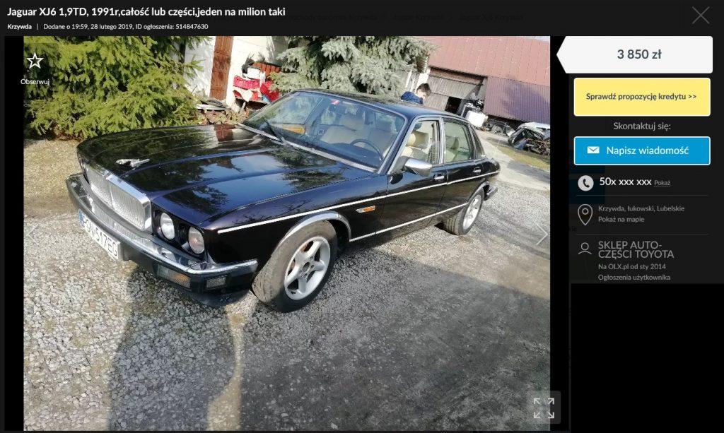 jaguar xj na sprzedaż