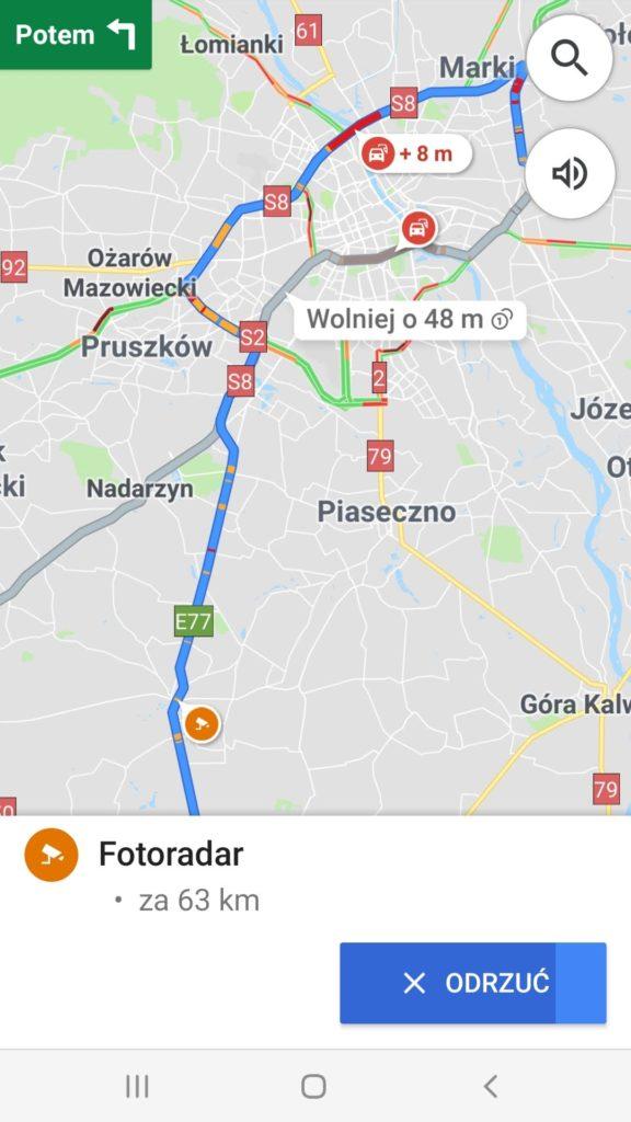 fotoradar Google Maps