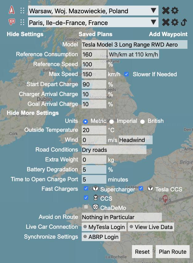 zasięg Tesli Model 3 LR