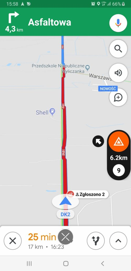 kontrola prędkości mapy google