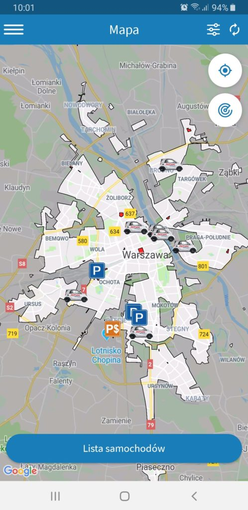 nowa strefa Traficar Warszawa