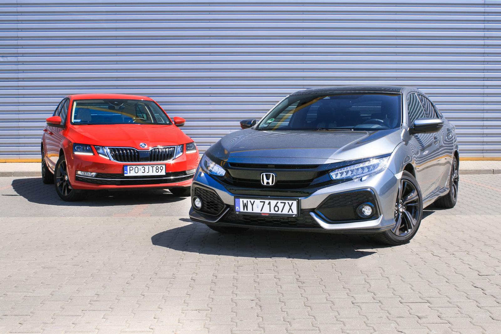 porównanie Honda Civic Skoda Octavia