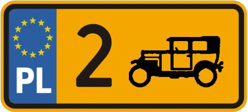 żółte tablice zabytkowe rejestracja
