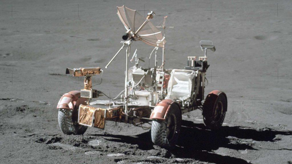 samochód w kosmosie lunar roving vehicle