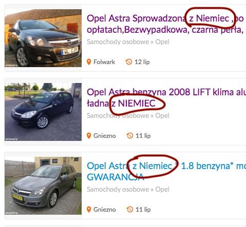 olx samochody gniezno