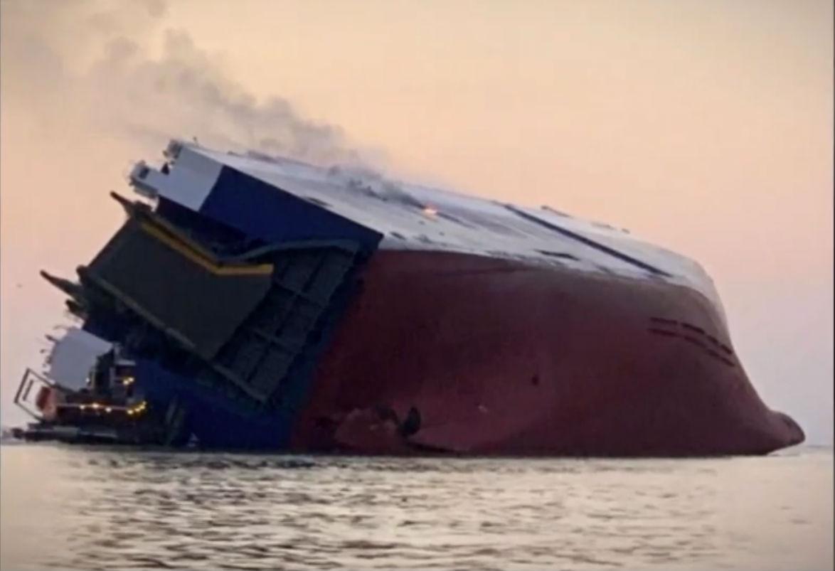 wypadek statku transportowego