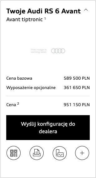 audi rs6 2019 cena