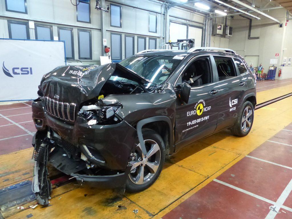 Jeep Cherokee crash test