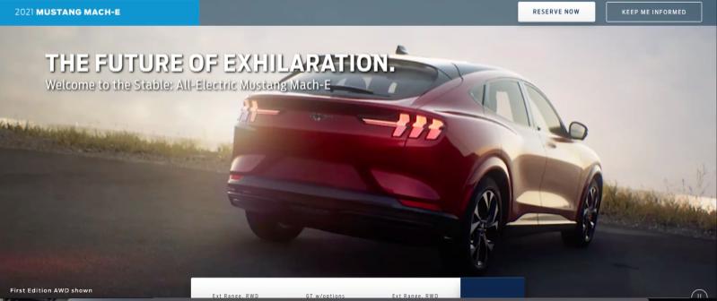 elektryczny Ford Mustang Mach E zdjęcia