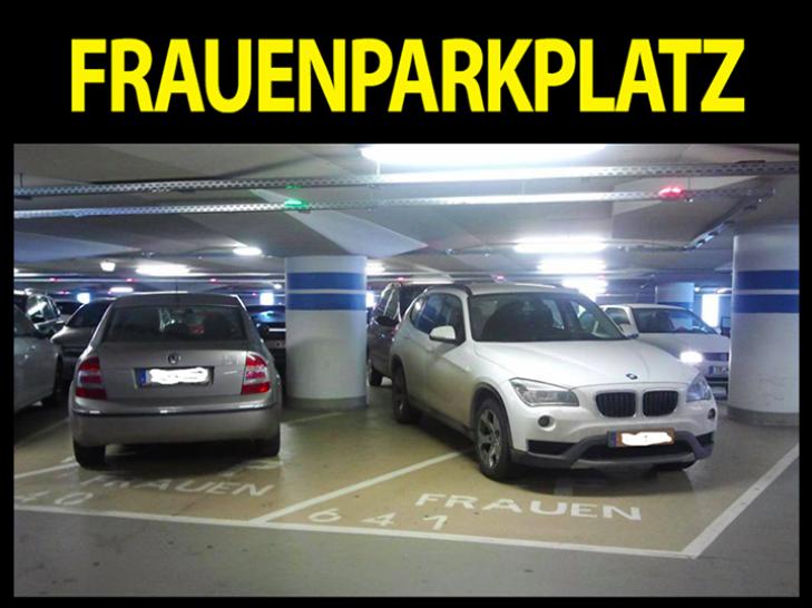 miejsca parkingowe dla kobiet frauenparkplatz