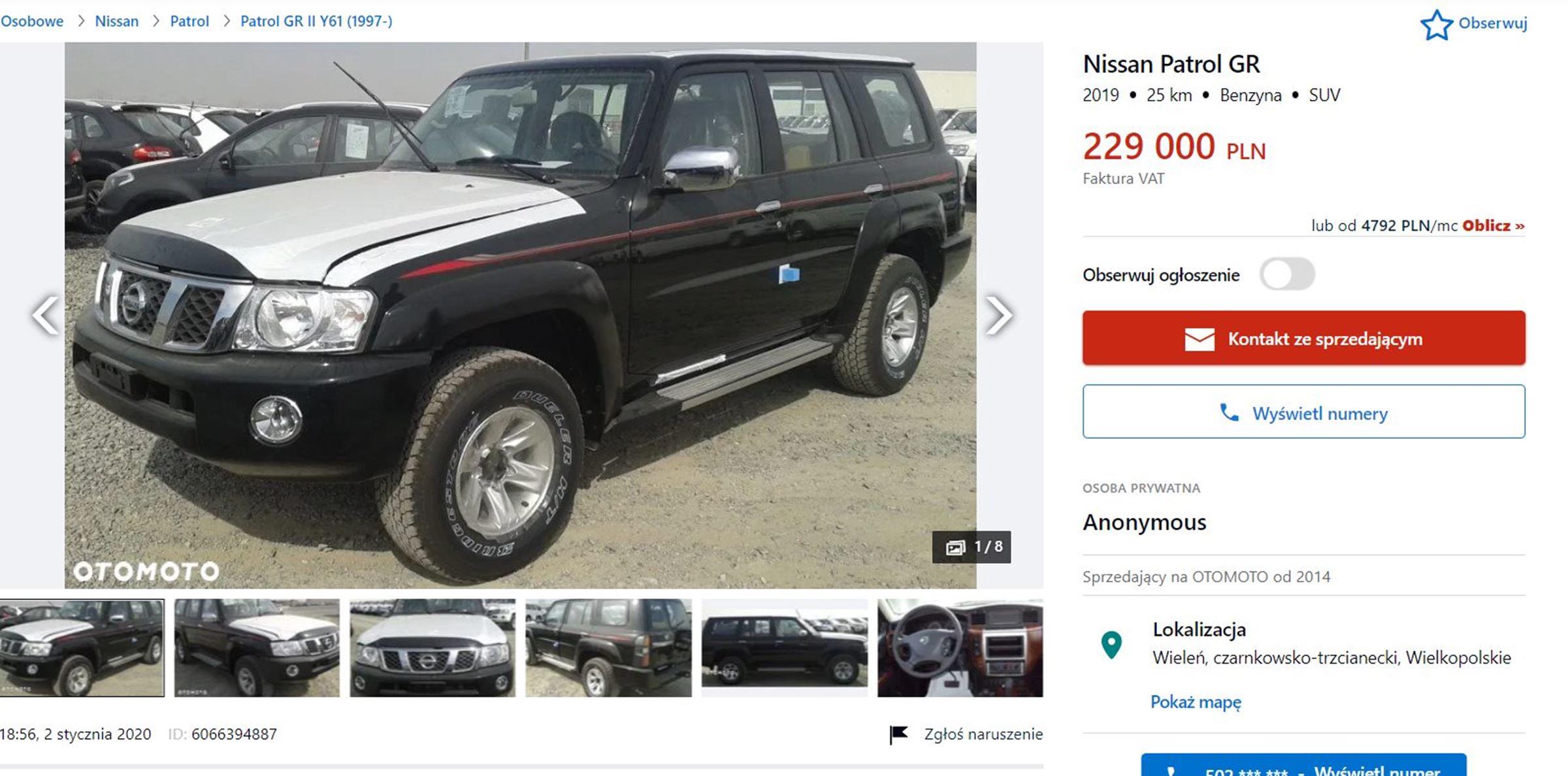 Nissan Patrol Y61 nowy