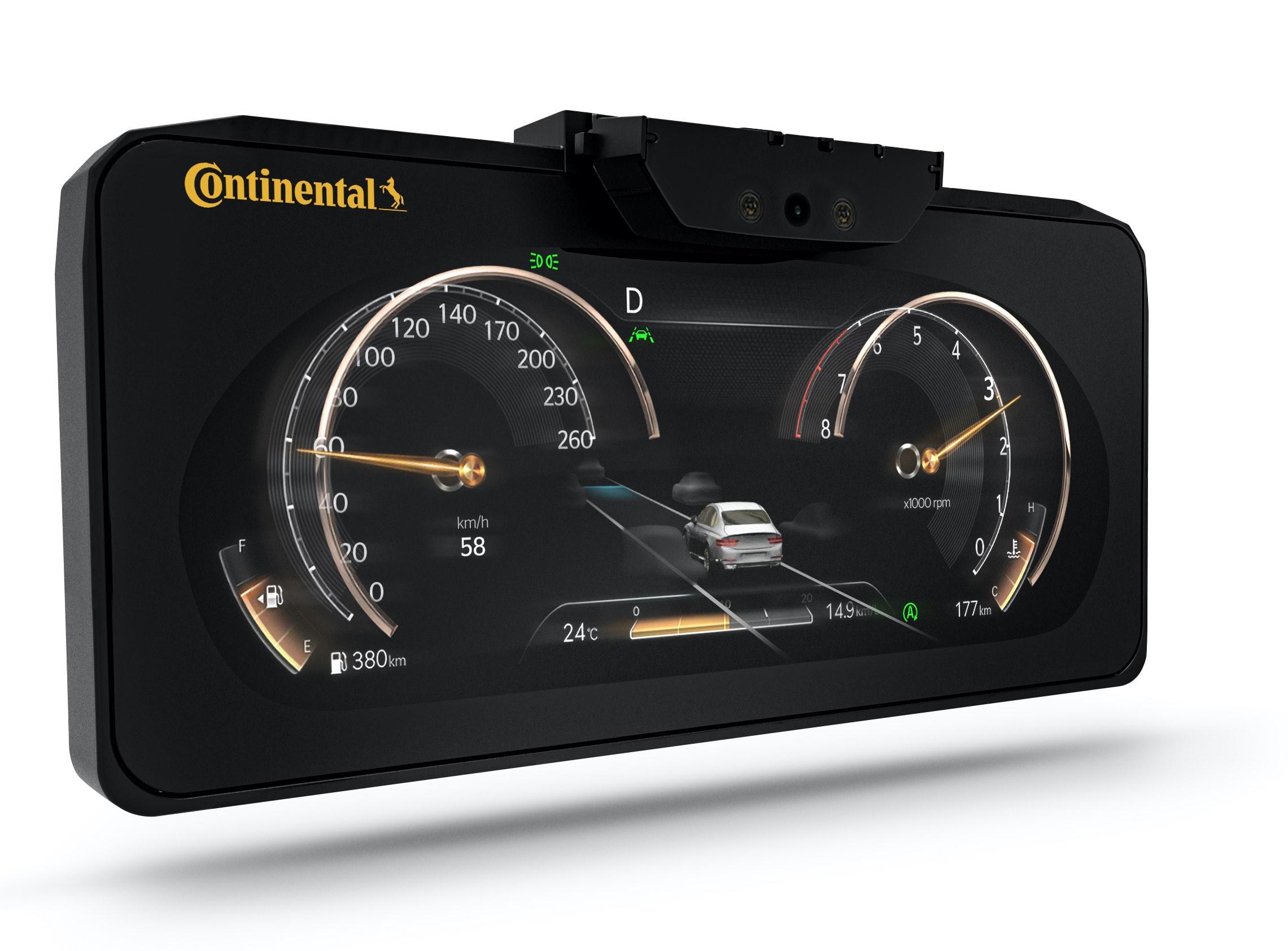 Continental ekran 3D