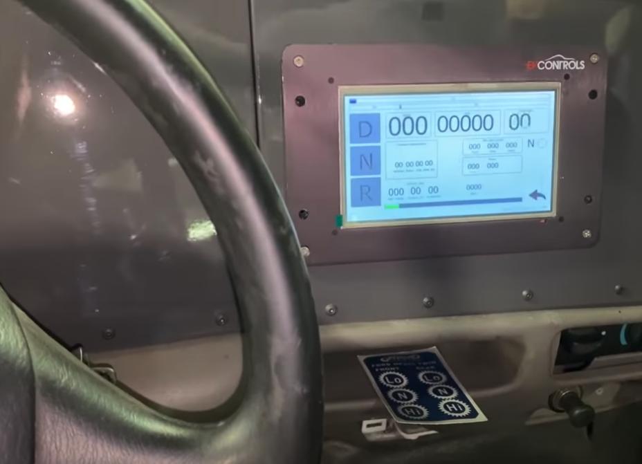 ekran elektrycznego forda