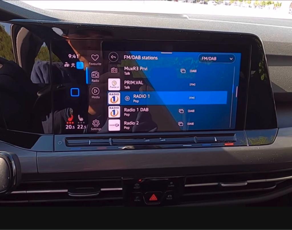 volkswagen golf system multimedialny