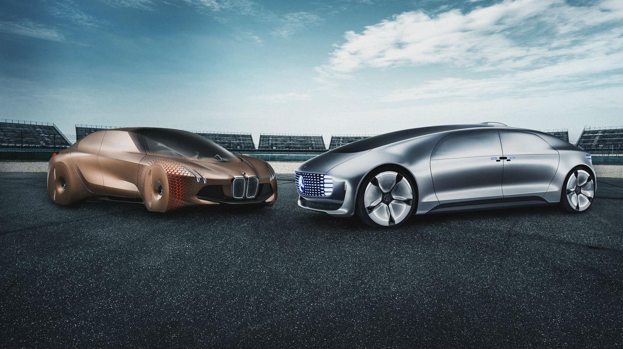 samochody autonomiczne BMW i Mercedes