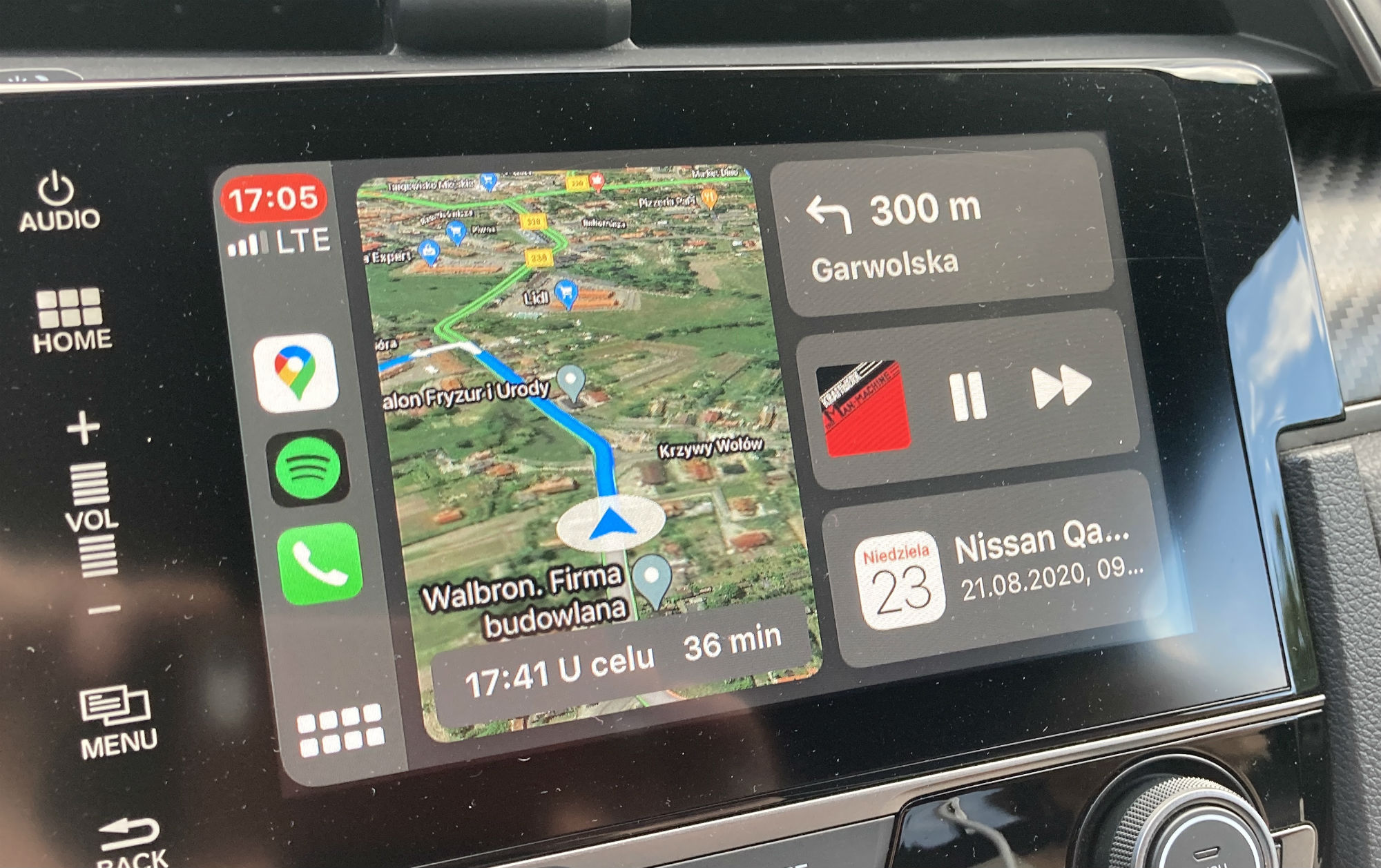 Mapy Google CarPlay