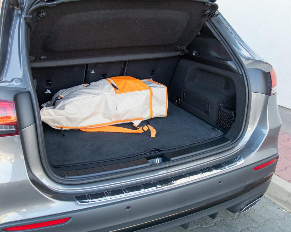 mercedes gla 250 pojemność bagażnika