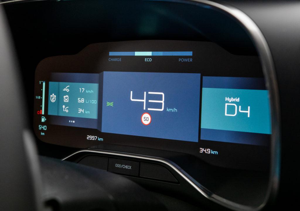 ekran citroen c5 aircross hybrid 2020