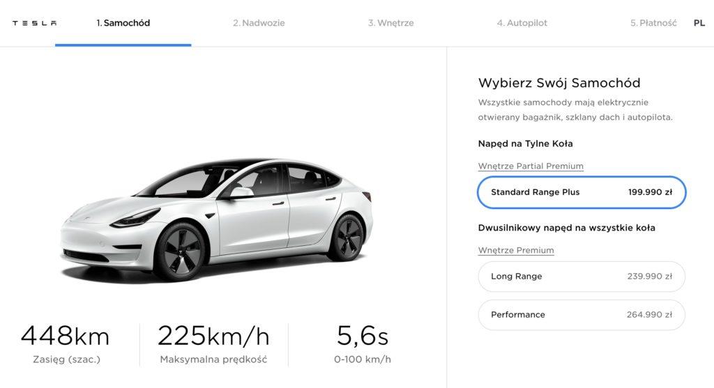 cena Tesli Model 3