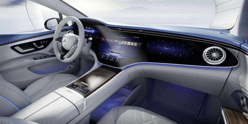 Mercedes EQS wnętrze