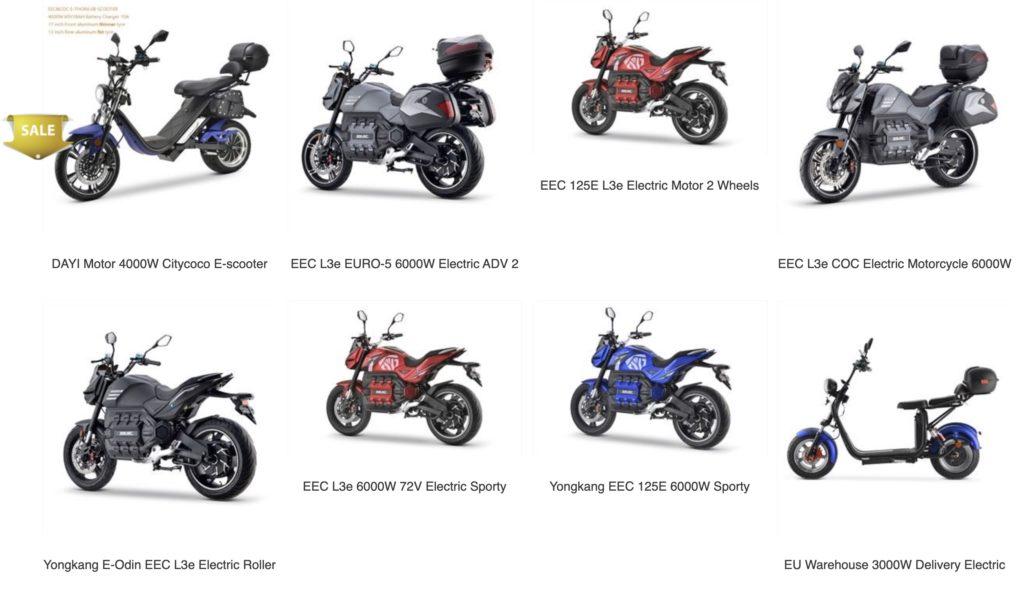 elektryczne motocykle