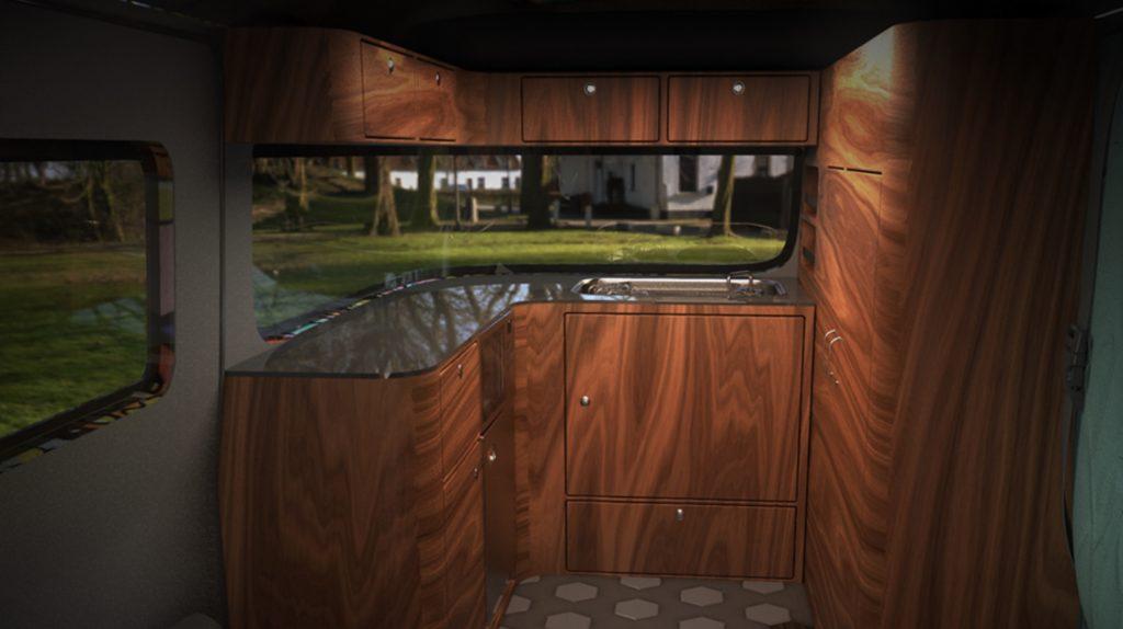 volkswagen kamper wnętrze projekt