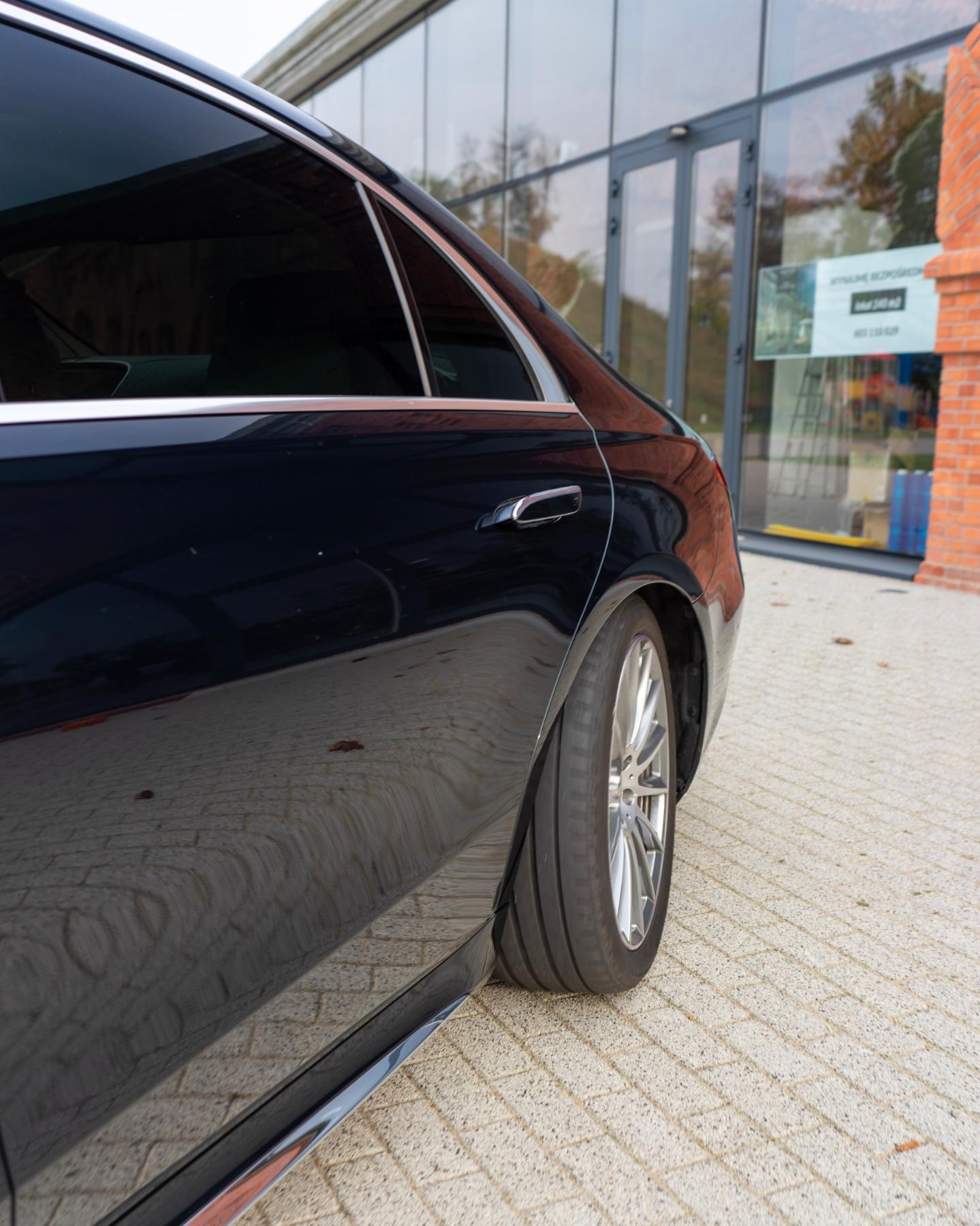 tylna oś skrętna Mercedes S