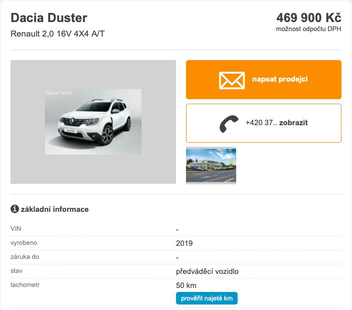 dacia duster 2.0