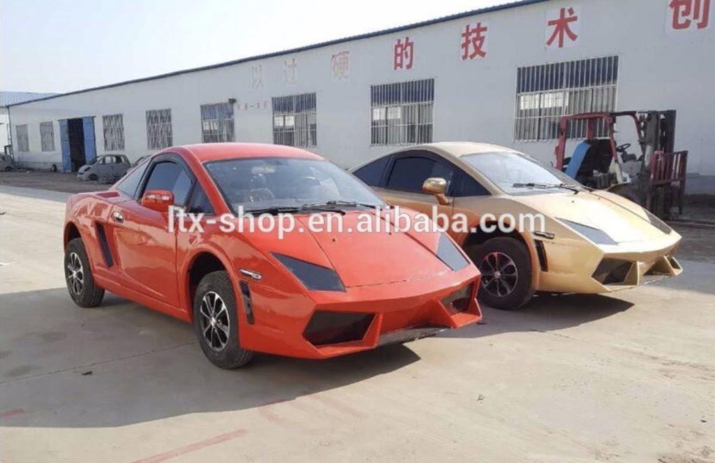 sportowy samochód z Chin