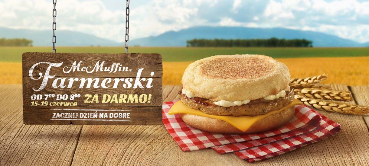 Od jutra McMuffin Farmerski w McDonald's za darmo – sprawdzamy regulamin promocji