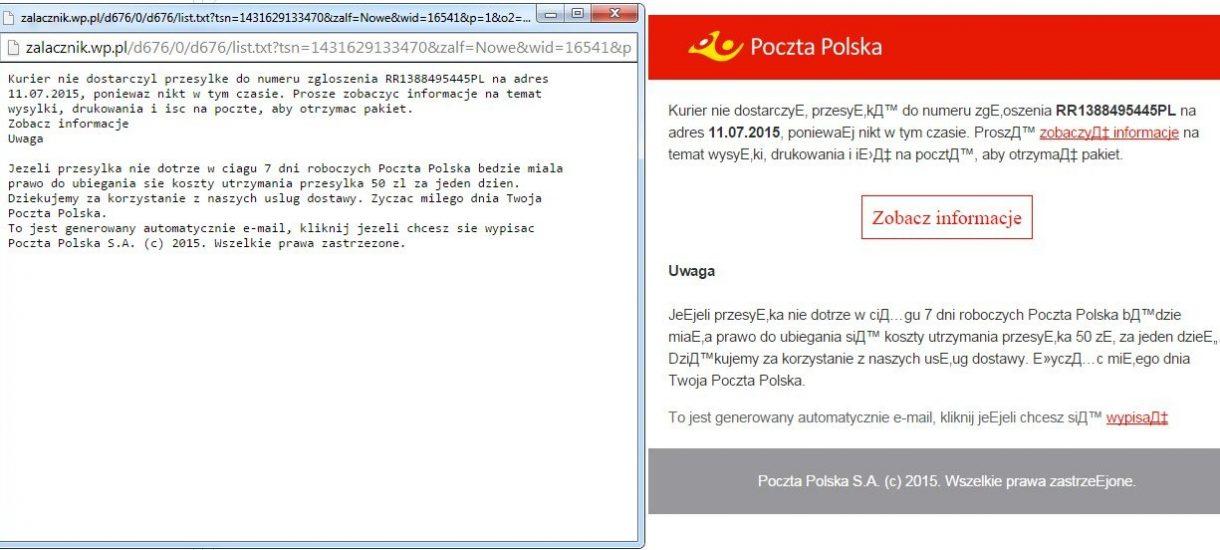 Uwaga na fałszywe e-maile od Poczty Polskiej!