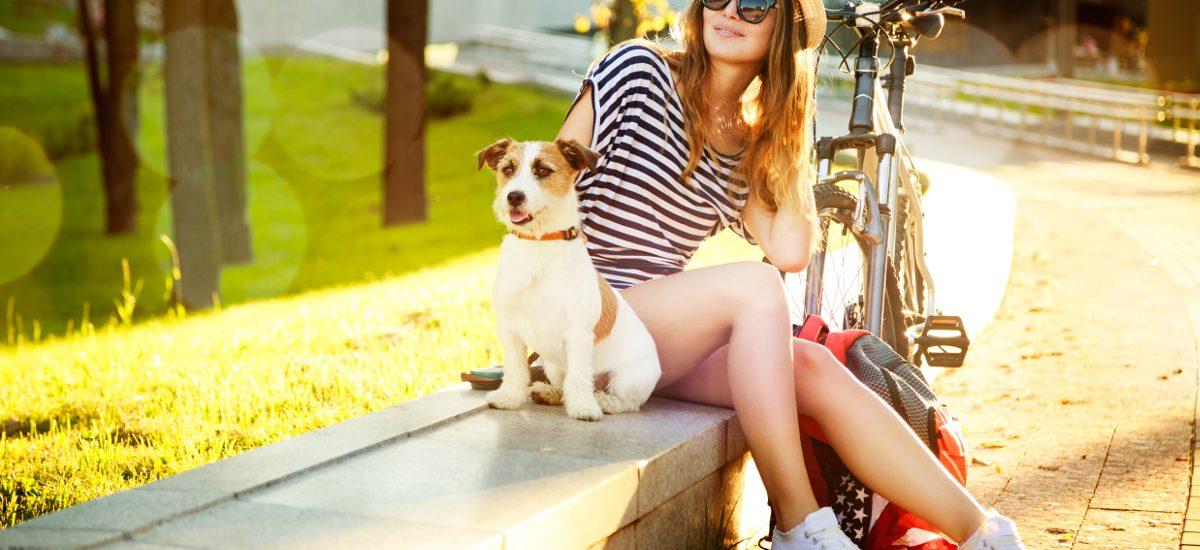 Spacer z psem jadąc na rowerze jest prawnie zabroniony