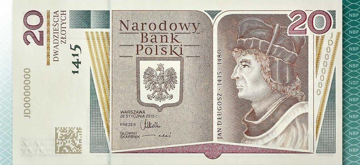 Do obiegu trafił pierwszy polski banknot z kodem QR – 20 zł uświetni Jan Długosz