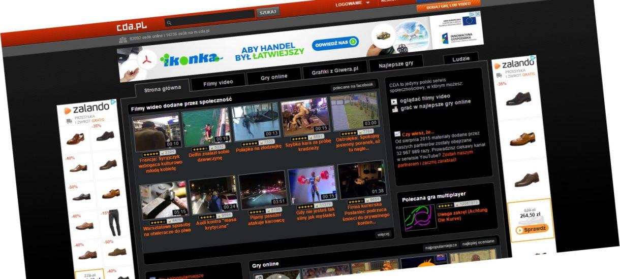 Czy strona cda.pl działa w zgodzie z prawem? A może podzieli losy Kinomaniaka czy iitv.info?