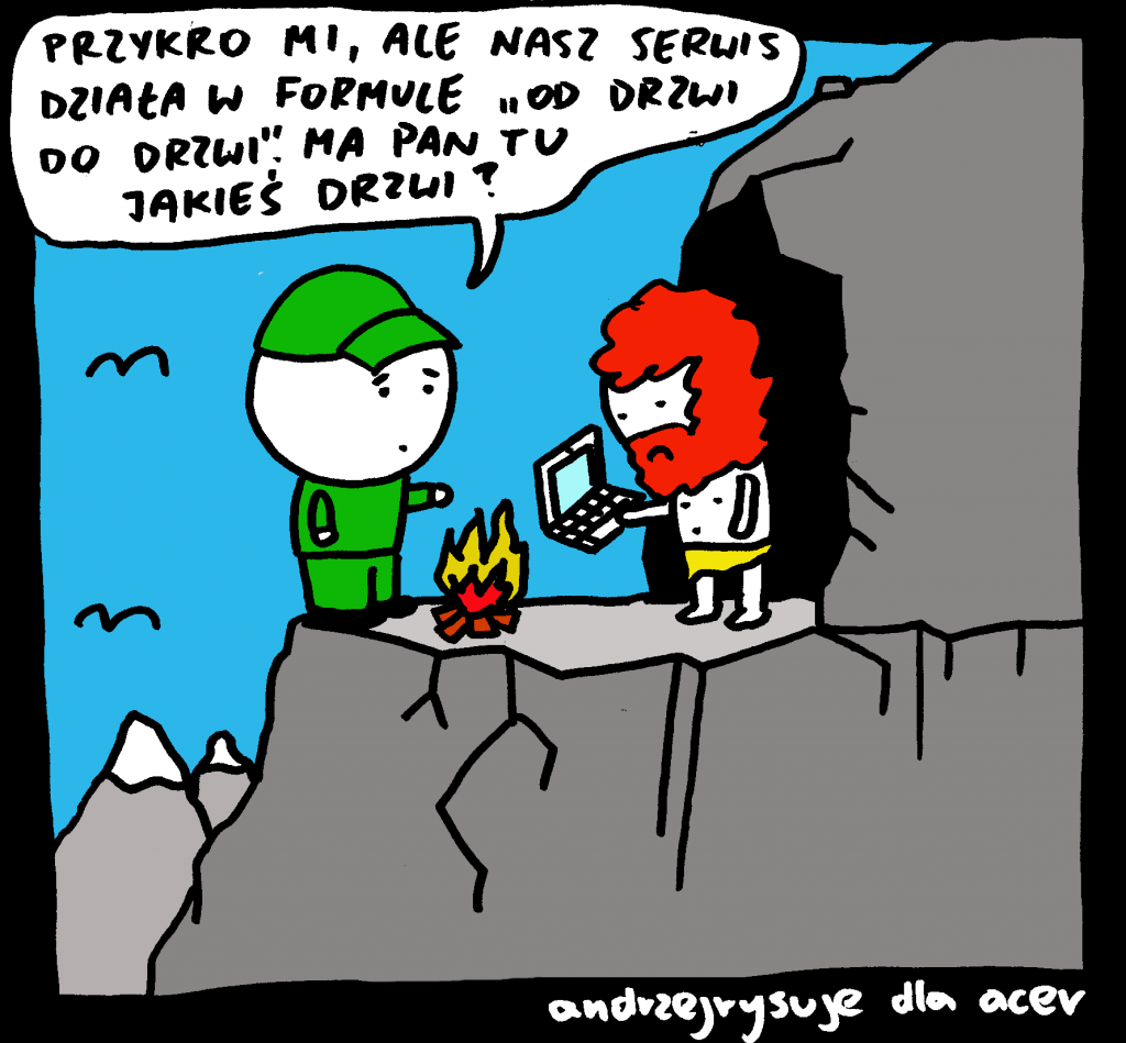 Andrzej Rysuje o serwisie Acer