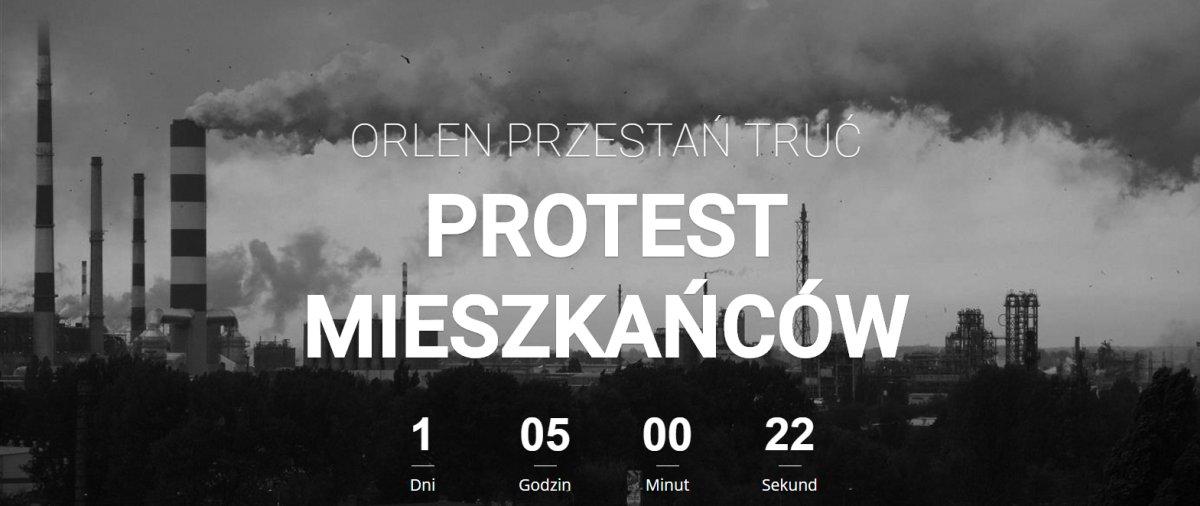 """""""Orlen przestań truć"""" – już w ten wtorek Płock wyjdzie na ulicę sprzeciwić się ostatnim praktykom Orlenu"""