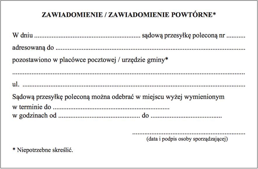 poczta polska awizo