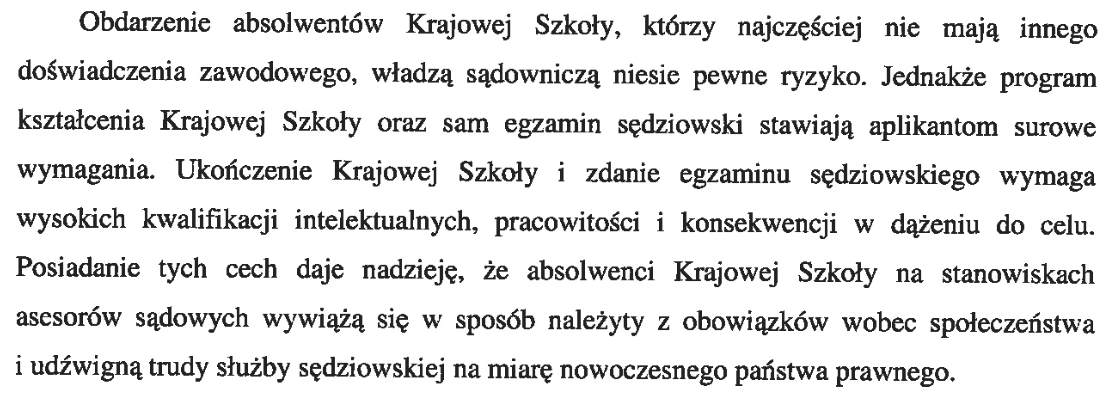 reforma sądownictwa - wątpliwości autorów projektu